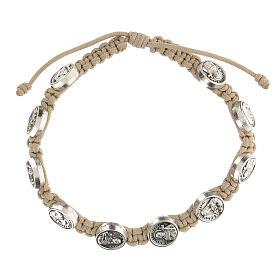 Bracelet Medjugorje medals turtledove rope medals s1