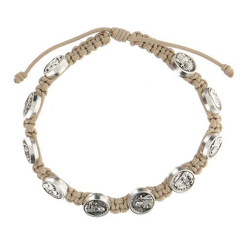 Bracelet Medjugorje medals turtledove rope medals 1