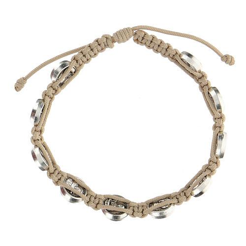 Bracelet Medjugorje medals turtledove rope medals 2
