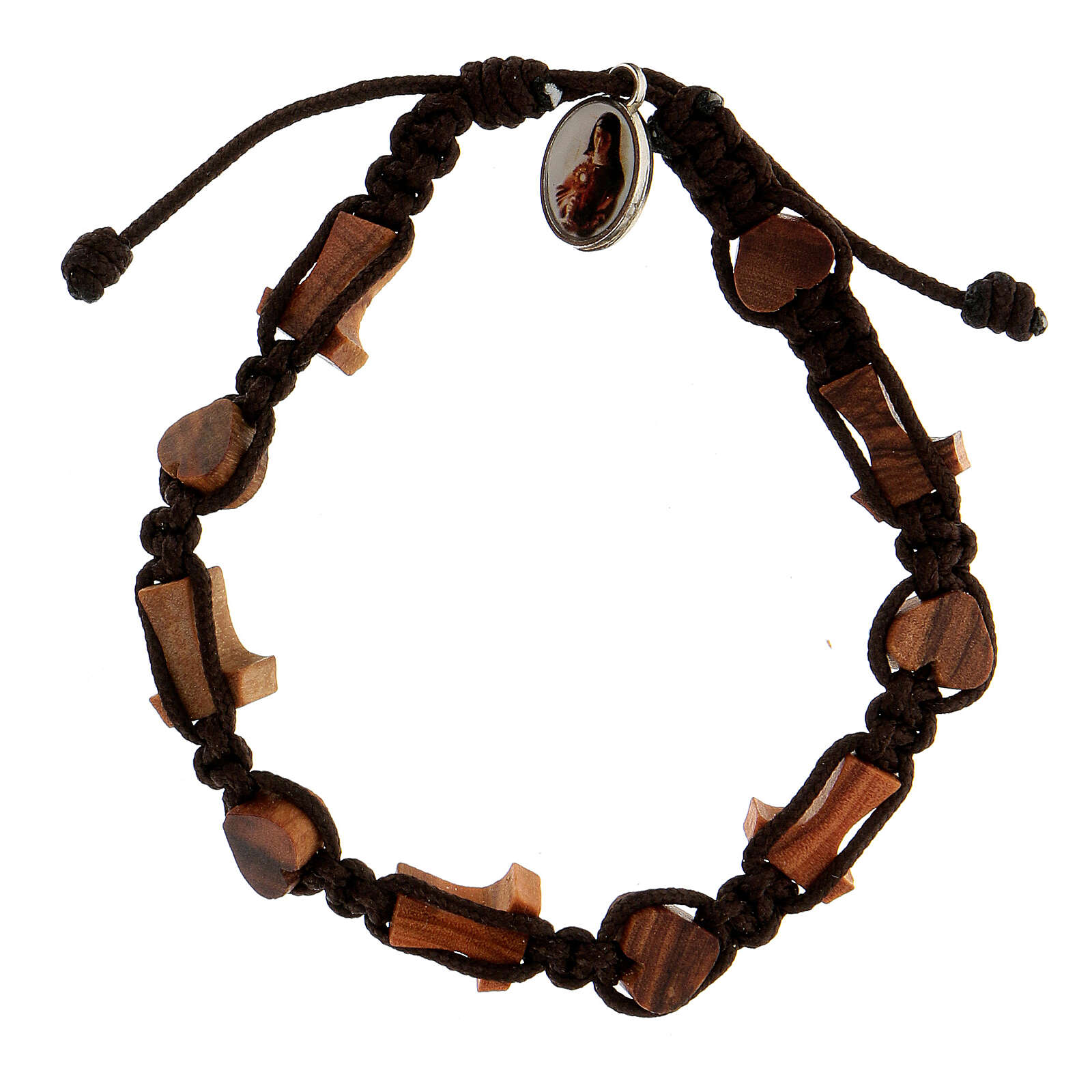 Medjugorje bracelet hearts crosses tau  4