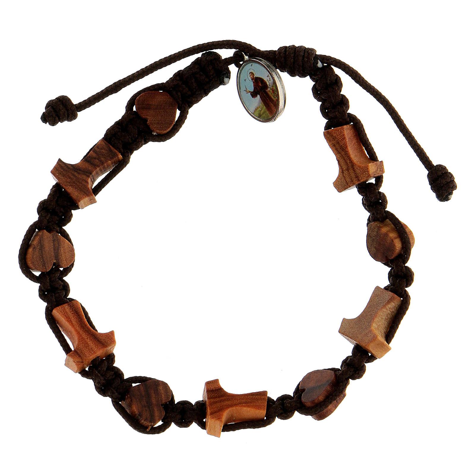 Bracelet coeurs croix tau Medjugorje 4