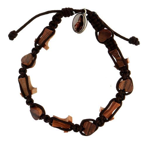 Bracelet coeurs croix tau Medjugorje 2