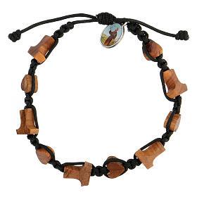 Bracelet Medjugorje croix tau coeurs olivier s1