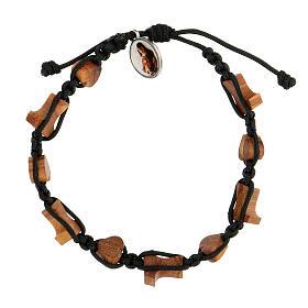 Bracelet Medjugorje croix tau coeurs olivier s2