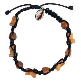 Bracelet coeurs et croix olivier Medjugorje s2