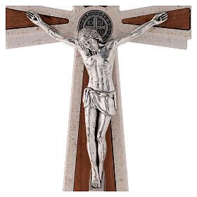 Croce Medjugorje medaglia San Benedetto 23 cm