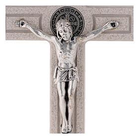 Croce Medjugorje medaglia San Benedetto 18 cm