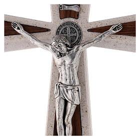 Croce Medjugorje medaglia San Benedetto base 24 cm