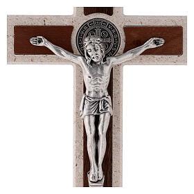 Cruz Medjugorje medalha São Bento com gancho 18 cm