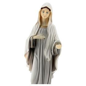 Madonna di Medjugorje dipinta 20 cm polvere di marmo
