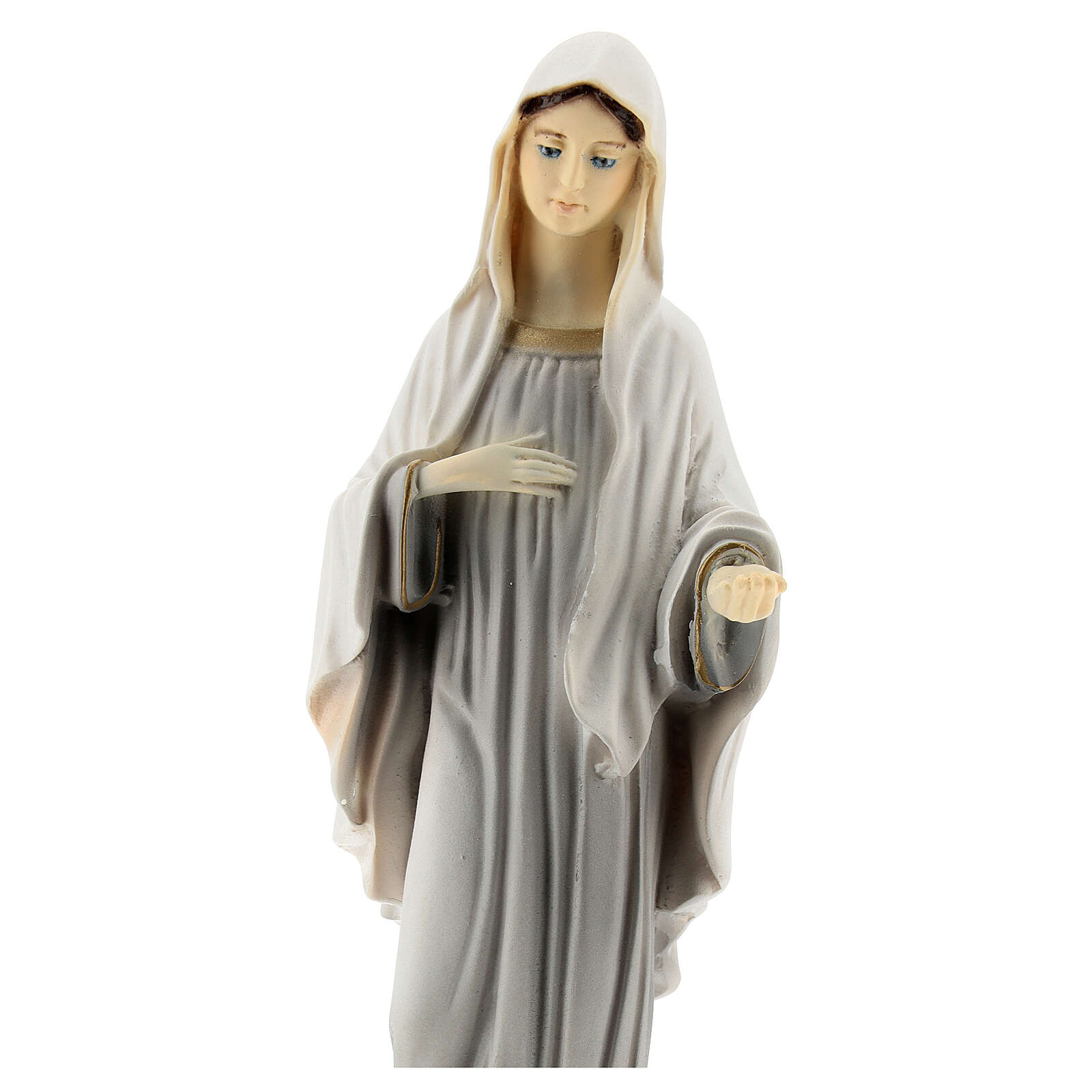 Statue of Our Lady of Medjugorje 20 cm painted reconstituted marble 4