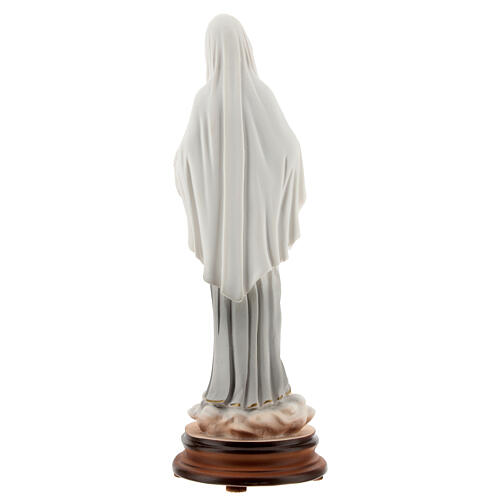 Statue of Our Lady of Medjugorje 20 cm painted reconstituted marble 5