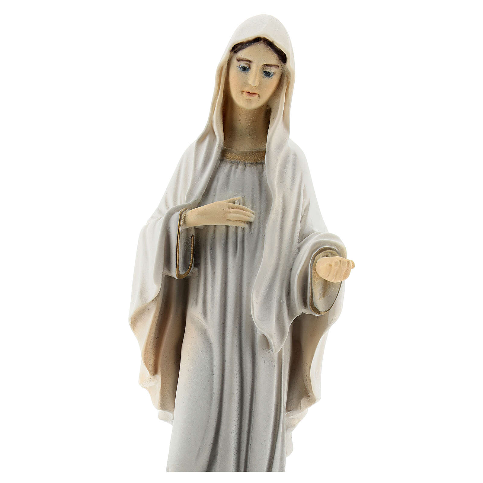 Lady of Medjugorje statue reconstituted marble St James church painted 20 cm 4