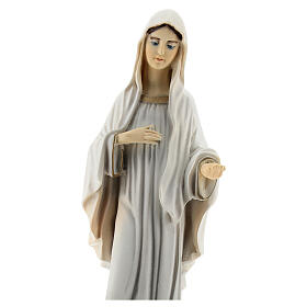 Lady of Medjugorje statue reconstituted marble St James church painted 20 cm s2
