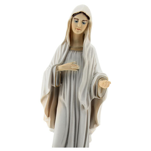 Lady of Medjugorje statue reconstituted marble St James church painted 20 cm