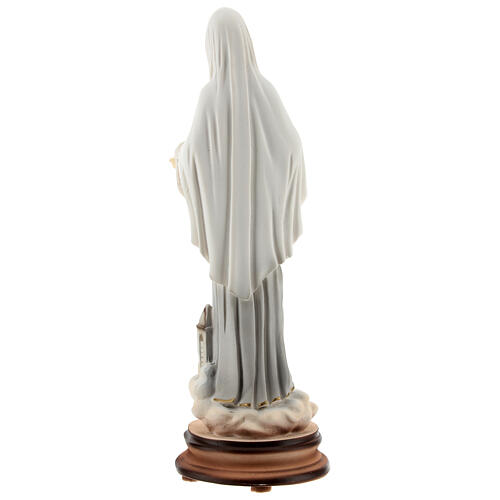 Lady of Medjugorje statue reconstituted marble St James church painted 20 cm 5