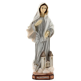 Our Lady of Medjugorje statue painted 20 cm Saint James church reconstituted marble s1