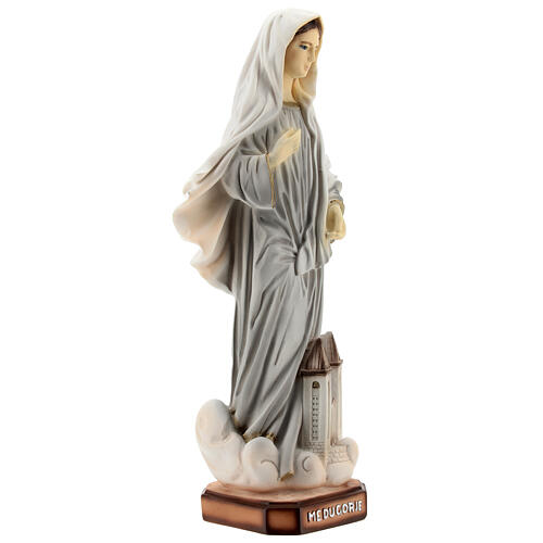 Our Lady of Medjugorje statue painted 20 cm Saint James church reconstituted marble 5