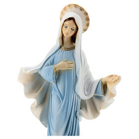 Lady of Medjugorje statue painted church reconstituted marble 30 cm OUTDOORS s2