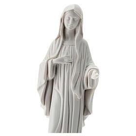 Madonna di Medjugorje bianco polvere di marmo 30 cm ESTERNO
