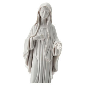 Our Lady Queen of Peace statue in white reconstituted marble 30 cm OUTDOORS s2