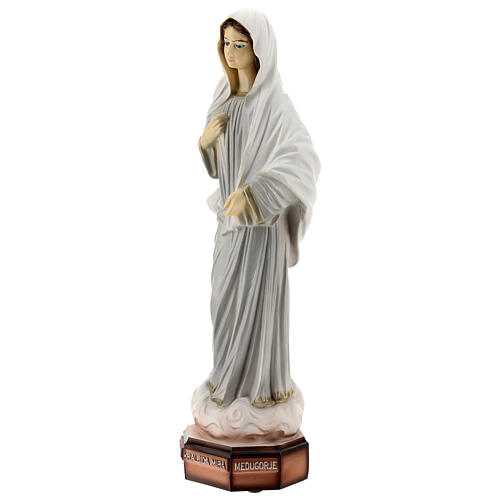 Our Lady of Medjugorje statue grey robes 30 cm in reconstituted marble OUTDOORS 3