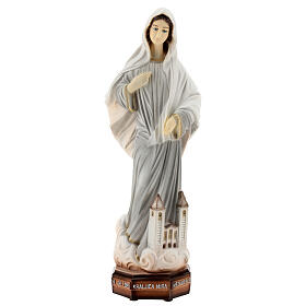 Madonna di Medjugorje chiesa polvere di marmo dipinta 30 cm ESTERNO