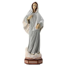 Madonna di Medjugorje veste grigia polvere marmo 40 cm ESTERNO