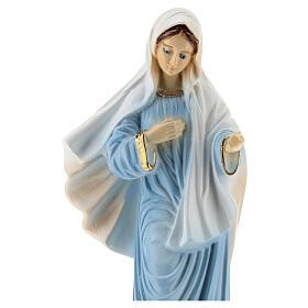 Madonna Medjugorje veste azzurra polvere marmo 20 cm