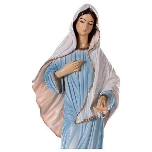 Virgen Medjugorje polvo mármol iglesia pintada 100 cm EXTERIOR