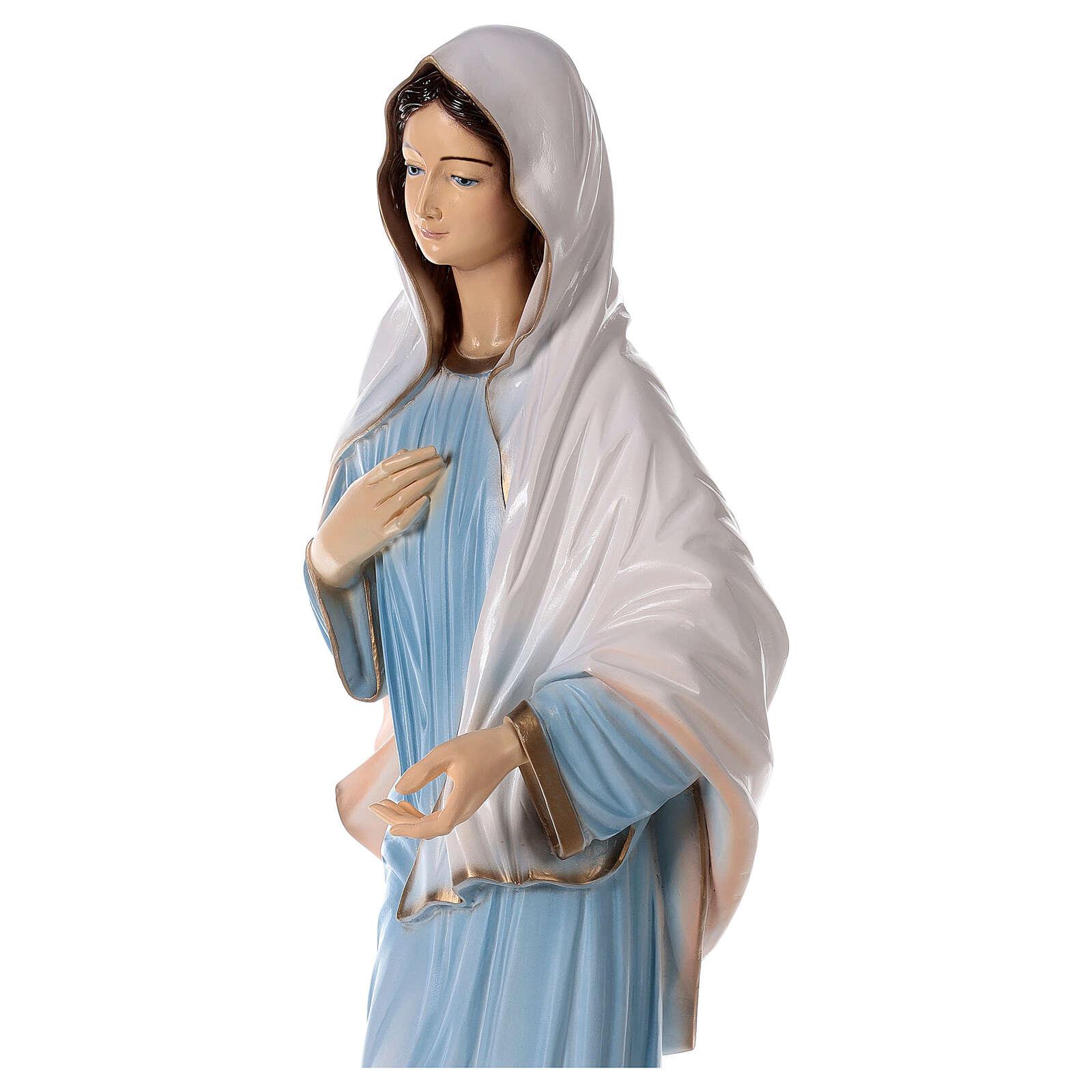 Madonna Medjugorje polvere marmo chiesa dipinta 100 cm ESTERNO 4
