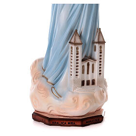 Madonna Medjugorje polvere marmo chiesa dipinta 100 cm ESTERNO s3