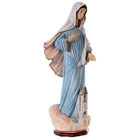 Madonna Medjugorje polvere marmo chiesa dipinta 100 cm ESTERNO s6