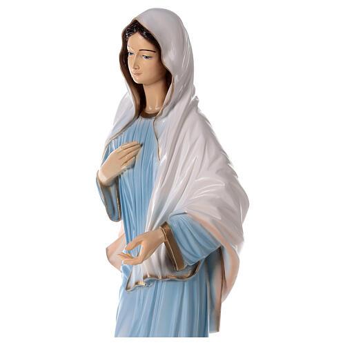 Madonna Medjugorje polvere marmo chiesa dipinta 100 cm ESTERNO 5