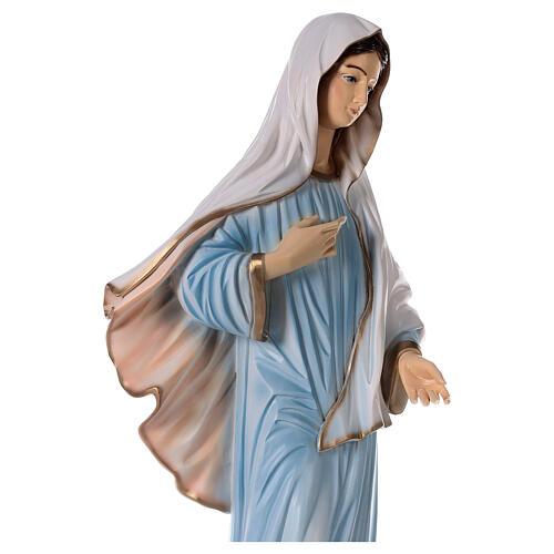 Madonna Medjugorje polvere marmo chiesa dipinta 100 cm ESTERNO 7