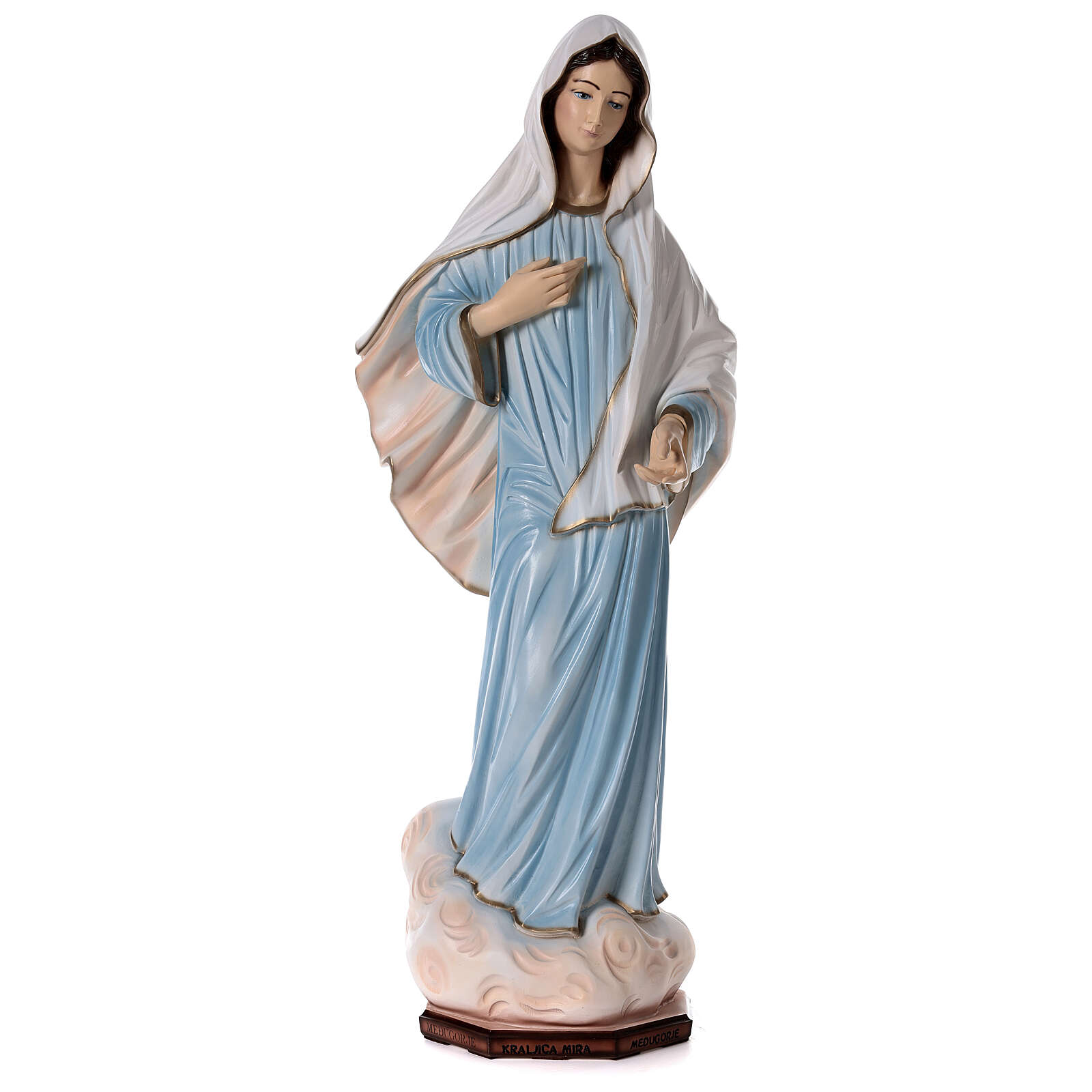 Our Lady of Medjugorje statue painted reconstituted marble 90 cm OUTDOOR 4