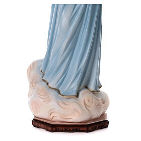 Our Lady of Medjugorje statue painted reconstituted marble 90 cm OUTDOOR s4