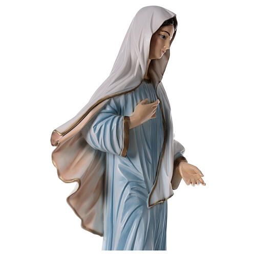 Our Lady of Medjugorje statue painted reconstituted marble 90 cm OUTDOOR 6