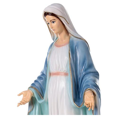 Madonna Miracolosa polvere di marmo dipinta 110 cm ESTERNO 4