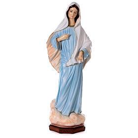 Madonna di Medjugorje abito azzurro polvere di marmo 120 cm  ESTERNO s1