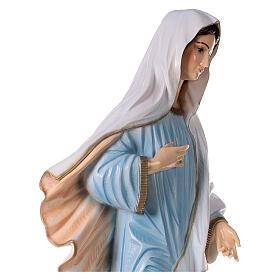 Madonna di Medjugorje abito azzurro polvere di marmo 120 cm  ESTERNO s6