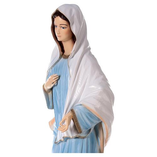 Madonna di Medjugorje abito azzurro polvere di marmo 120 cm  ESTERNO 4