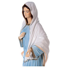 Our Lady of Medjugorje in reconstituted marble with light blue dress 47 inc OUTDOOR s4