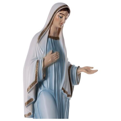 Madonna Medjugorje tunica azzurra polvere marmo 82 cm ESTERNO 2