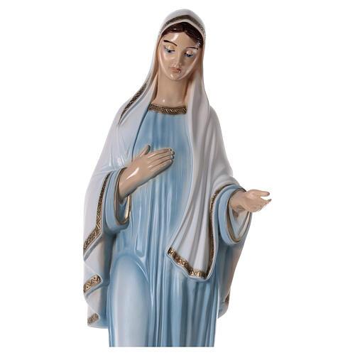 Madonna Medjugorje tunica azzurra polvere marmo 82 cm ESTERNO 6