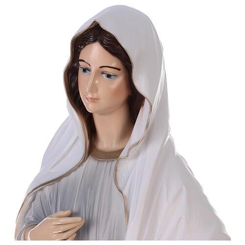 Virgen Medjugorje pintada polvo mármol 150 cm EXTERIOR