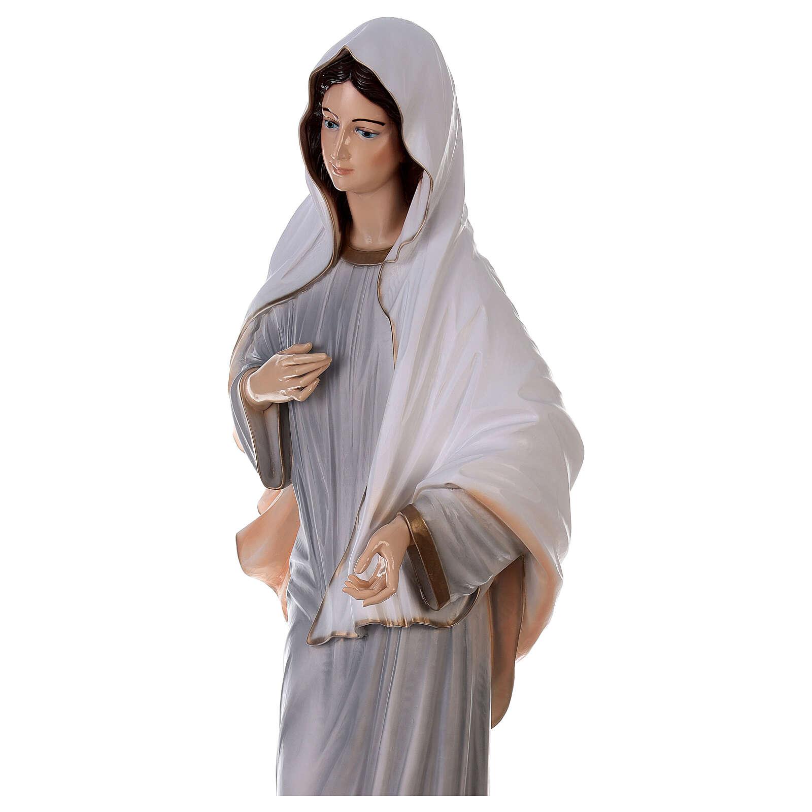 Madonna Medjugorje dipinta polvere marmo 150 cm ESTERNO 4