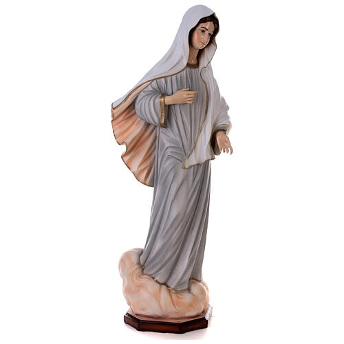 Madonna Medjugorje dipinta polvere marmo 150 cm ESTERNO 7