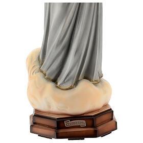 Madonna Medjugorje abiti grigi polvere di marmo 60 cm ESTERNO s5