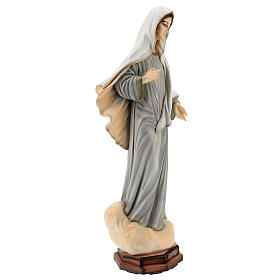 Statue of Lady of Medjugorje grey tunic reconstituted marble 60 cm OUTDOORS s4